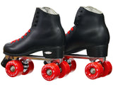 Epic Classic Black & Red Quad Roller Skates Package
