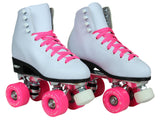 Epic Classic White & Pink Roller Skates Package