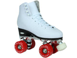 Epic Classic White & Red Quad Roller Skates