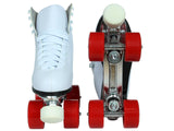 Epic Classic White & Red Roller Skates Package