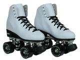 Epic Classic White & Black Quad Roller Skates Package