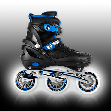 Epic Storm Adjustable 90mm 3-Wheel Bright LED Light Up Inline Speed Skates