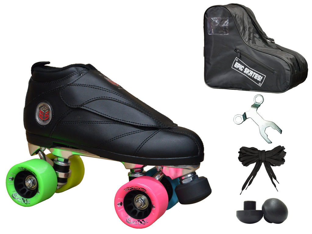 Epic Evolution Rainbow Speed Skates Package