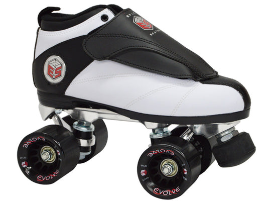 Epic Evolution White Quad Speed Skates