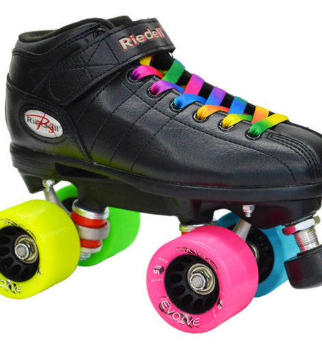 Riedell R3 Rainbow Evolve Quad Speed Skates