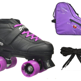 Epic Super Nitro Purple Speed Skates Package