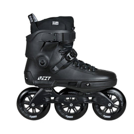 Powerslide Next Blackout Supercruiser 110mm Inline Urban Speed Skates + FREE Bag