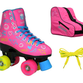 Epic Blush Roller Skates Package