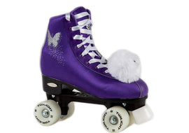 Epic Purple Butterfly LED Quad Skate