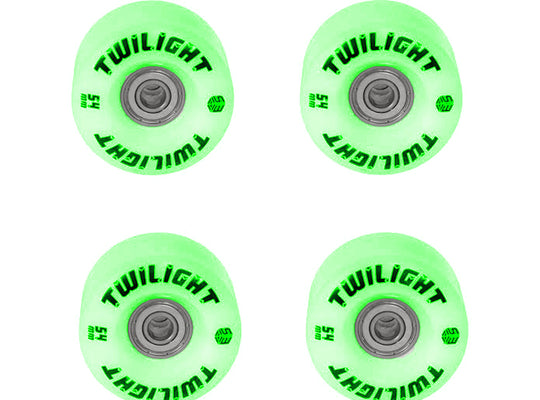 Epic Green Twilight LED Light Up Roller Skate Wheels