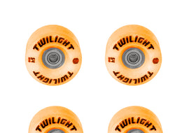 Epic Orange Twilight LED Light Up Roller Skate Wheels
