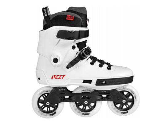 Powerslide Next 100 White 3 Wheel Inline Fitness Speed Skates Men's
