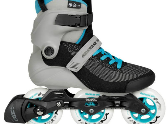 Powerslide Swell Lite Blue Grey 100 3 Wheel Inline Fitness Speed Skates Men's