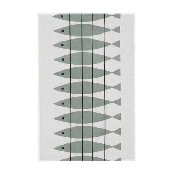 Tea towel SILL greengrey