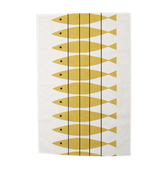 Tea towel SILL ochre