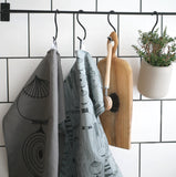 Tea towel PICKNICK ELEMENTS grey