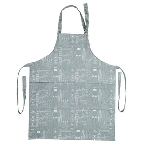 Apron PICKNICK green gray