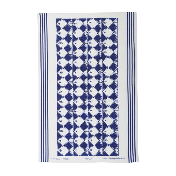 Tea towel FRISCO blue
