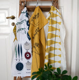 Tea towel PICKNICK ELEMENTS ochre