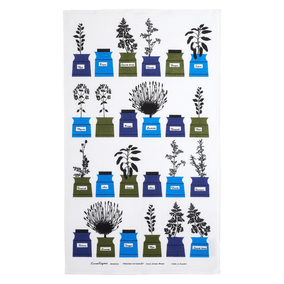 Tea towel PERSONS KRYDDSKÅP Blue