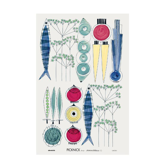 Tea towel PICKNICK multi