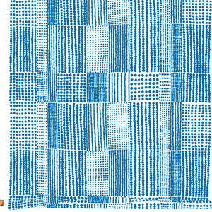Fabric PRICKTYG blue white