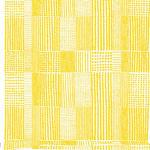 Fabric PRICKTYG yellow white