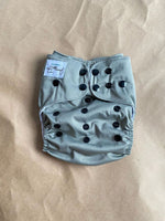 *FACTORY SECONDS* Grey Flex Nappy (shell Only) Upside down logo