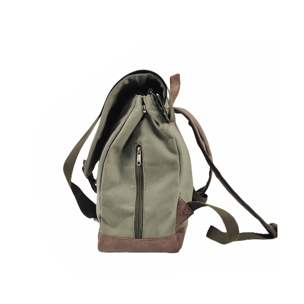 Khaki Green Nappy Backpack - Bottoms Up Junior