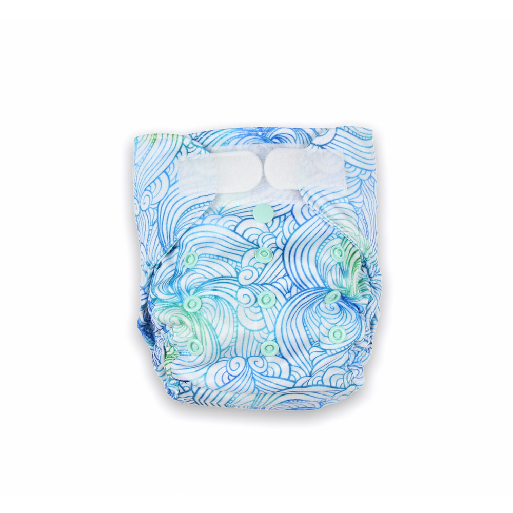 Sea Swirl Newborn Nappy