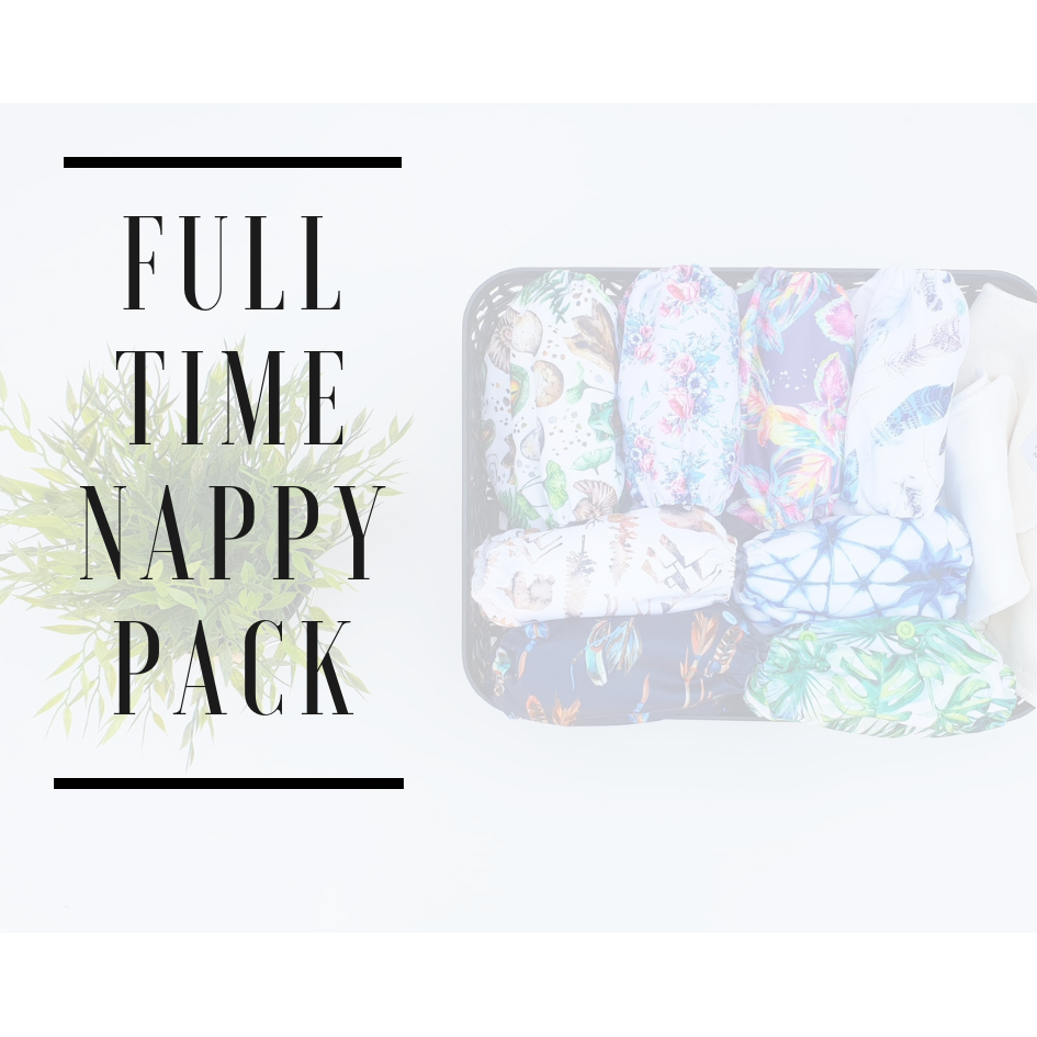 Full time Cloth Nappy pack