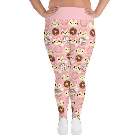 Drizzle's Donuts Plus Size Leggings