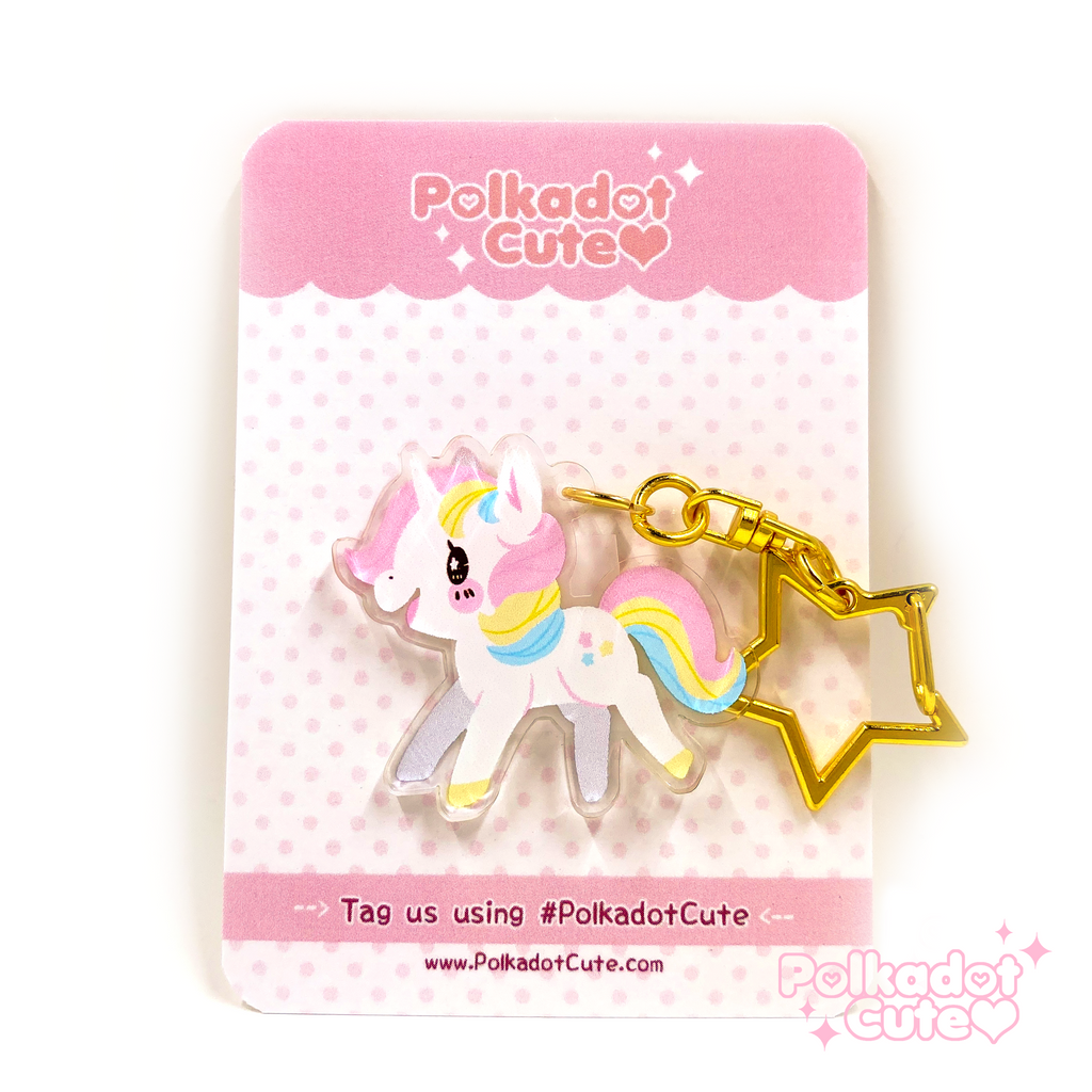 Marshmallow Unicorn Charm