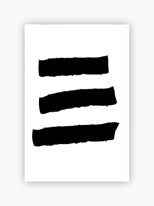 Black Lines Abstract Poster