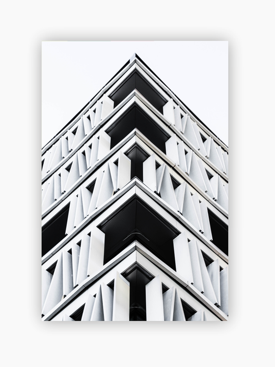 Black And White Building Poster