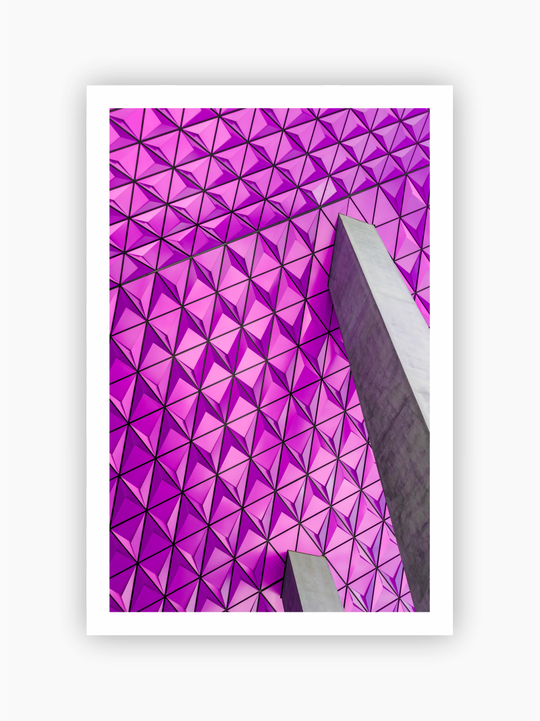 Purple Architectural Poster