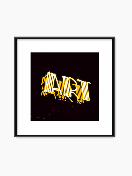 Art Neon Sign Poster