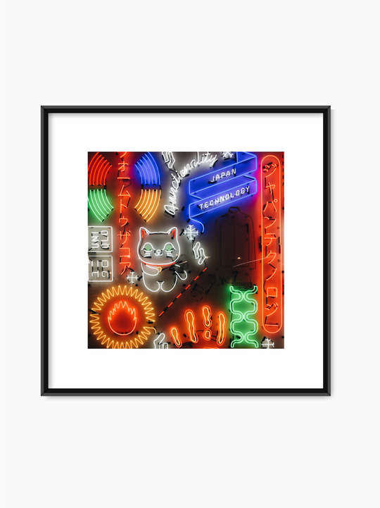 Japanese Neon Signs Poster
