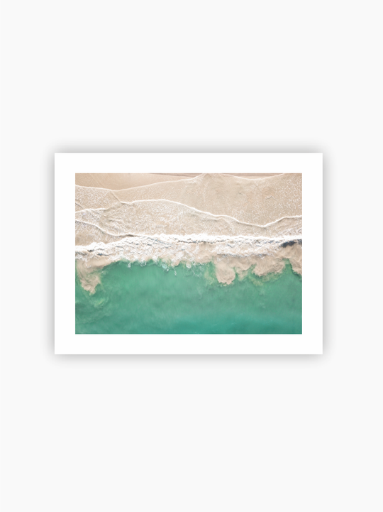 Beach From Above Poster