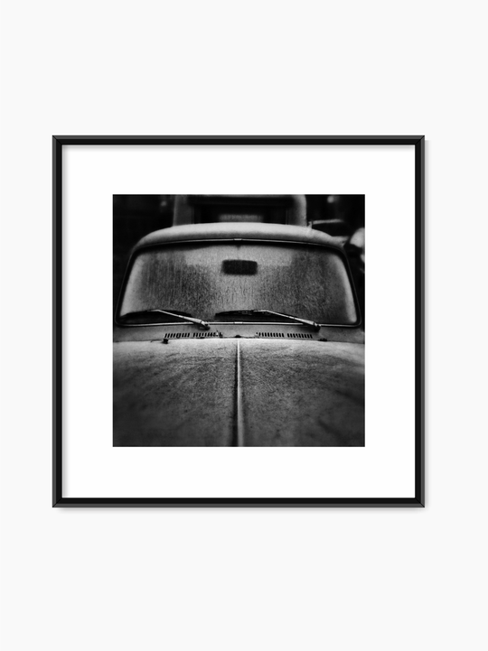 Black & White Classic Car Poster