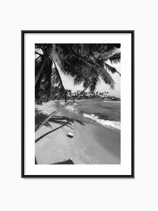 Black & White Beach Poster