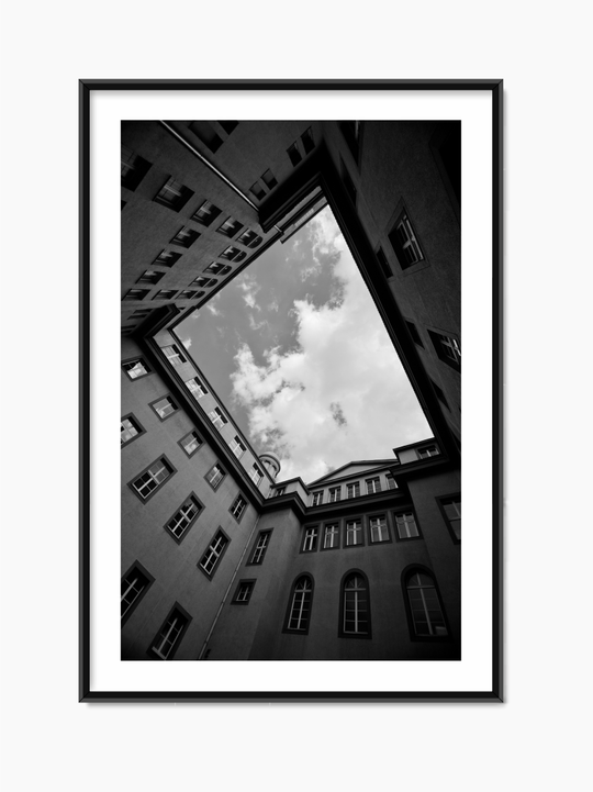 Black & White Building Poster