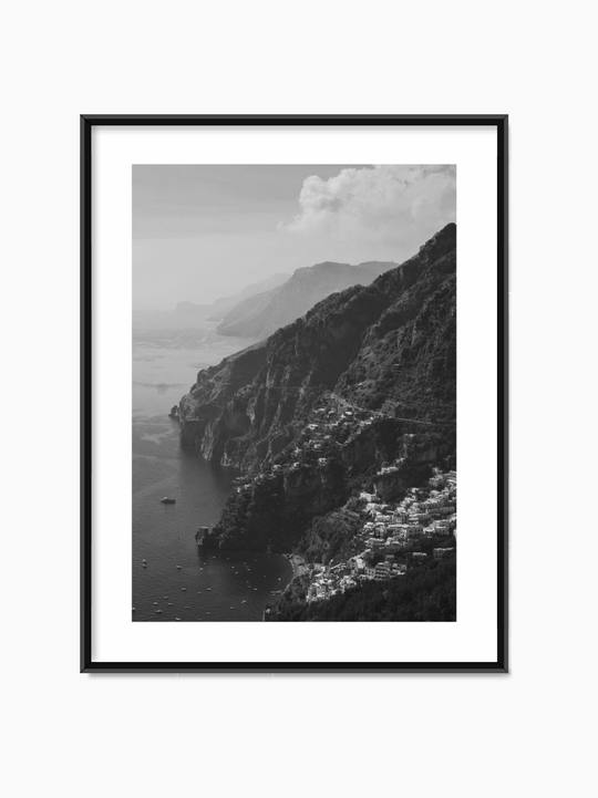 Black & White Coast Poster
