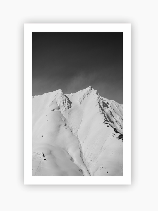 Black & White Mountain Top Poster