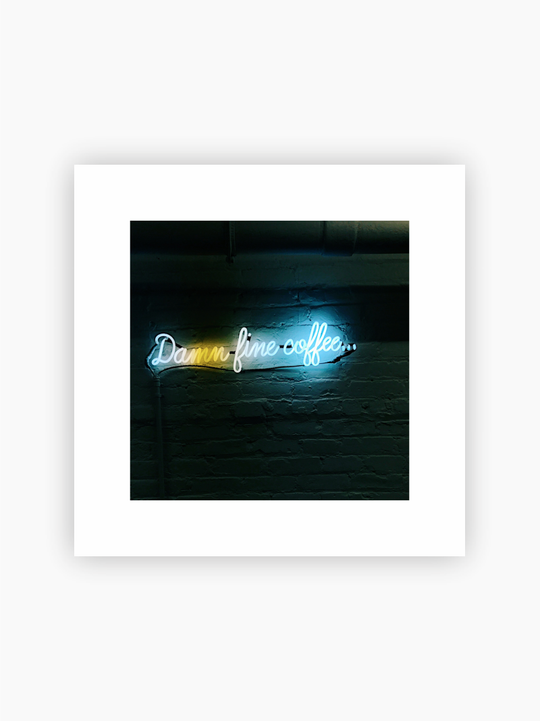 'Damn Fine Coffee' Neon Sign Poster