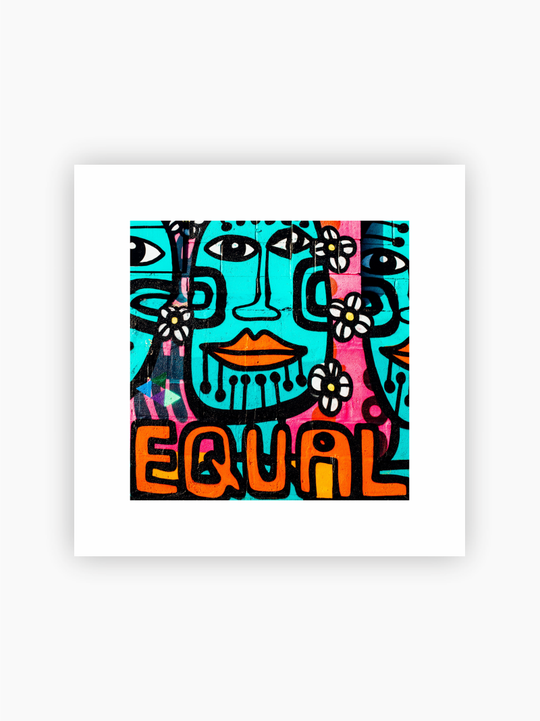 Street Art 'Equal' Poster