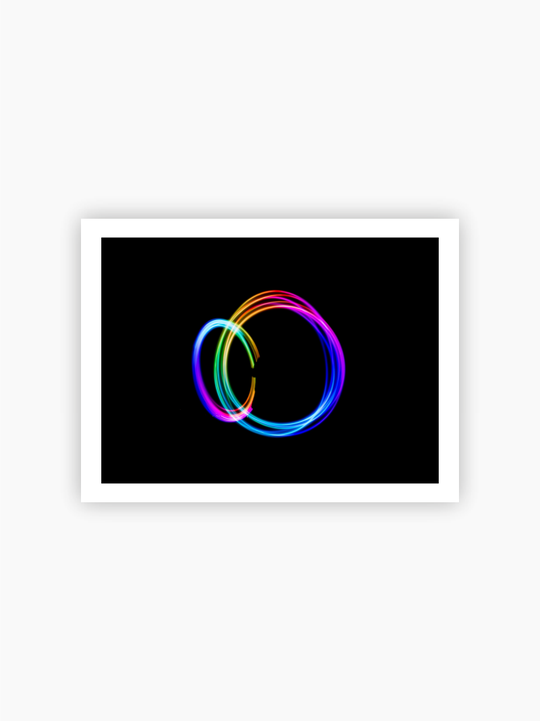 Colors Of The Rainbow Abstract Photograph Poster