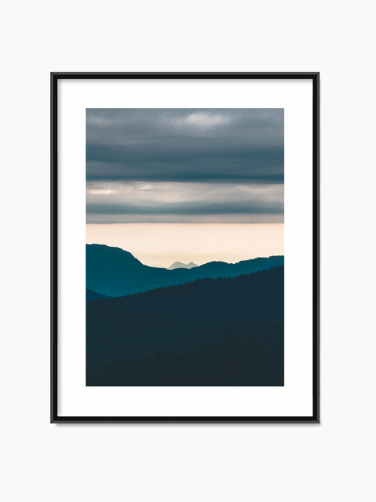 Mountains In Sunset Poster