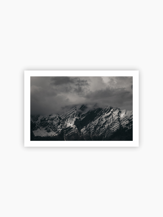 Black & White Mountain Poster