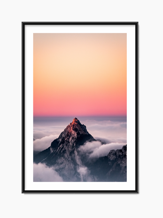 Mountain Top Above The Clouds Poster